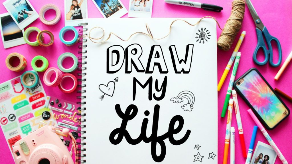 top40_ideas_for_vlogging_draw_your_life